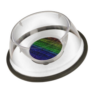 Mesh Weave Abstract rainbow Pet Bowl
