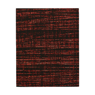 Mesh Weave Abstract red Wood Wall Art