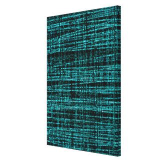 Mesh Weave Abstract teal Canvas Print