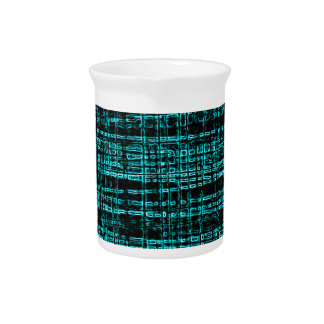 Mesh Weave Abstract teal Pitchers