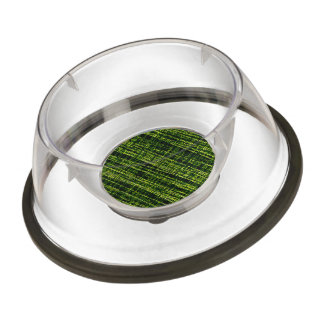 Mesh Weave Abstract yellow Pet Bowl