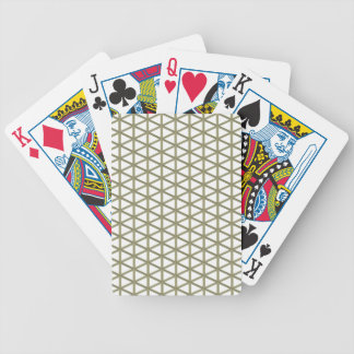 Mesh. Windoorf Pattern On Transparent Background Bicycle Card Deck