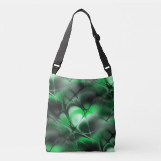 Meshed (jade-stone) crossbody bag