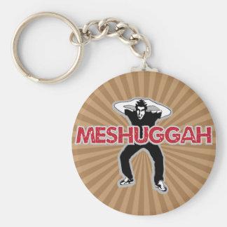 Meshugga - Crazy man cool design (Hebrew humor) Key Chains