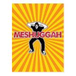 Meshugga - diseño fresco del hombre loco (humor he tarjetas postales