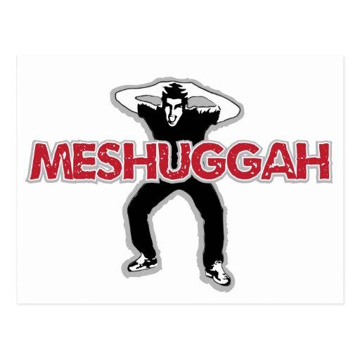 Meshugga - diseño fresco del hombre loco (humor he postal