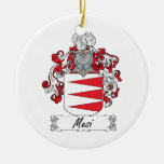 Mesi Family Crest Christmas Tree Ornaments