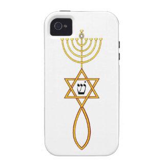 Mesiánico injertado en caso del iphone del sello iPhone 4/4S fundas