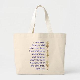 Mesiánico injertado en sello con el tote del bolsa tela grande