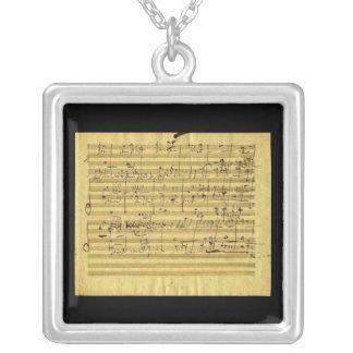 Mesías en la mano de Beethoven Colgante Cuadrado