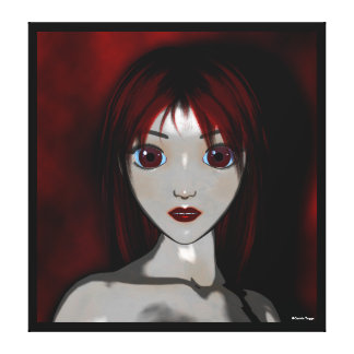 Mesmerize Vampire Anime Goth Canvas Print