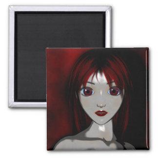Mesmerize Vampire Goth Anime Fantasy 2 Inch Square Magnet
