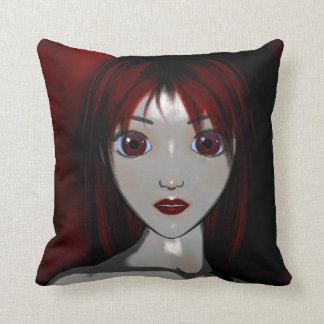 Mesmerize Vampire Goth Anime Fantasy Throw Pillow