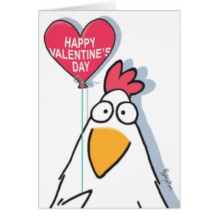 Mesmerized Chicken Valentines By Boynton Card at Zazzle