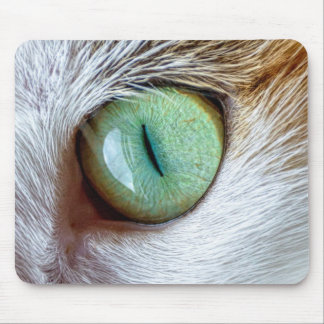 Mesmerizing Beautiful Green Cat's Eye Mouse Pad