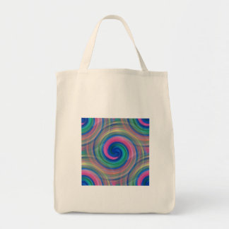 Mesmerizing classic swirl pattern with purple tote bag