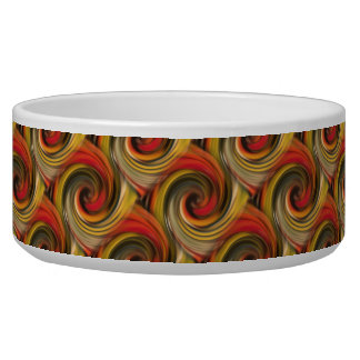 Mesmerizing color swirl with black hole number two bowl