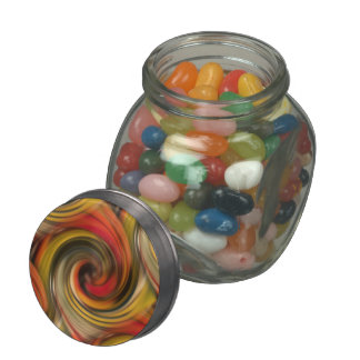 Mesmerizing color swirl with black hole number two glass jar