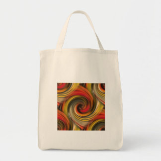 Mesmerizing color swirl with black hole number two tote bag