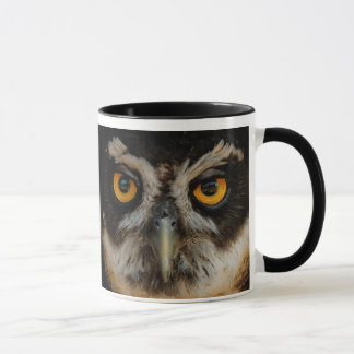 Mesmerizing Golden Eyes of a Spectacled Owl Mug