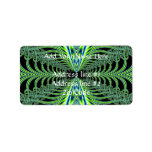 Mesmerizing Peacock Feathers Fractal Address Label