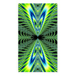 Mesmerizing Peacock Feathers Fractal Double-Sided Standard Business Cards (Pack Of 100)