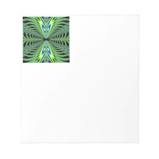Mesmerizing Peacock Feathers Fractal Memo Notepads