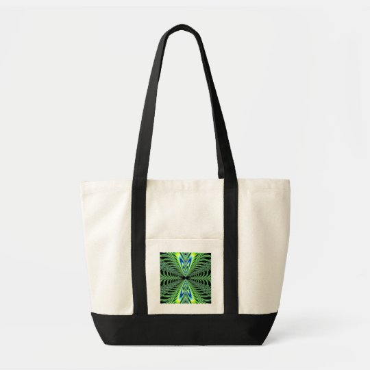Mesmerizing Peacock Feathers Fractal Tote Bag