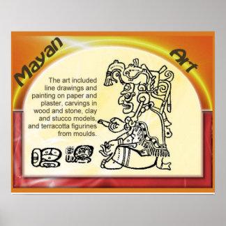 Meso-American culture Mayan art Poster