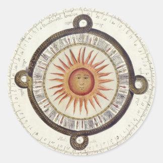 Mesoamerican Calendar Round Sticker
