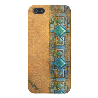 Mesoamerican Faux Stone and Gems iPhone SE/5/5s Cover