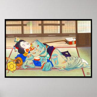 Mesón de Nakazawa Hiromitsu en la señora del japon Póster