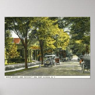 Mesón de Roycroft, aurora del este, vintage de NY Posters