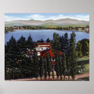 Mesón del lago mirror de Nueva York del Lake Placi Posters
