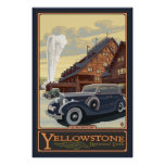 Mesón fiel viejo - parque nacional de Yellowstone Posters