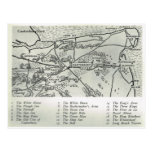 Mesones de Kent, mesones cerca del mapa de Cantorb Tarjetas Postales
