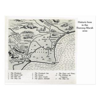 Mesones históricos en el área del pantano de Romne Postales