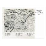 Mesones históricos en el área del pantano de Romne Tarjeta Postal