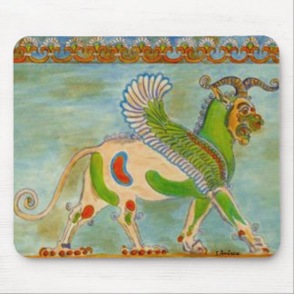 Mesopotamian Winged Lion by S Ambrose Mouse Pad