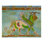 Mesopotamian Winged Lion by S Ambrose Poster