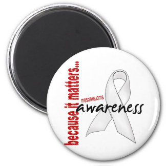 Mesothelioma Awareness 2 Inch Round Magnet