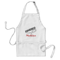 Mesothelioma Awareness 3 Adult Apron