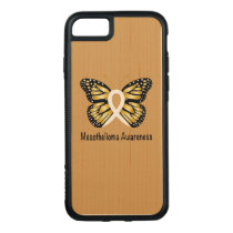 Mesothelioma Awareness Butterfly Carved iPhone 8/7 Case