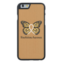 Mesothelioma Awareness Butterfly Carved Maple iPhone 6 Case