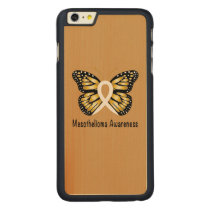 Mesothelioma Awareness Butterfly Carved Maple iPhone 6 Plus Slim Case