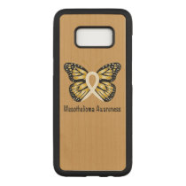 Mesothelioma Awareness Butterfly Carved Samsung Galaxy S8 Case