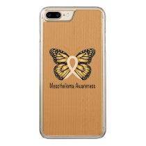 Mesothelioma Awareness Butterfly Carved iPhone 8 Plus/7 Plus Case