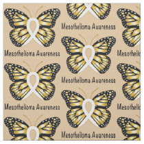 Mesothelioma Awareness Butterfly Fabric