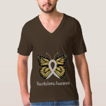 Mesothelioma Awareness Butterfly T-Shirt