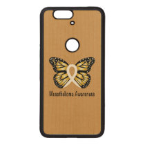 Mesothelioma Awareness Butterfly Wood Nexus 6P Case